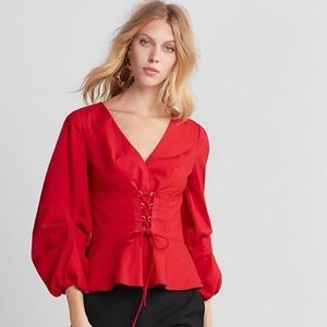 Express Red Blouses size xs final sale